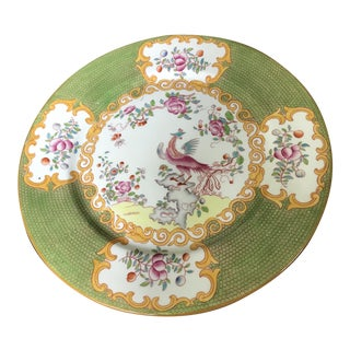 """Cuckoo Green Minton Style Plate w.a.a. & Co. 10..5"""" For Sale"""