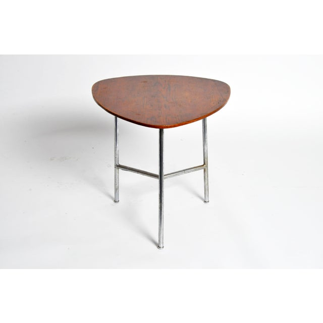 Art Deco Hungarian Table with Metal Legs For Sale - Image 3 of 11