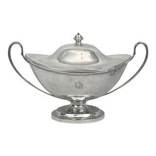 Large English Sterling Silver Soup Tureen Charles Stuart Harris, London 1896 For Sale