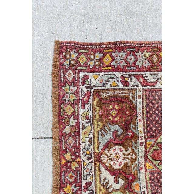 Vintage Turkish Rug, Berry & Mint - 2′2″ × 4′2″ - Image 3 of 4