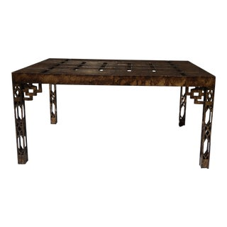 Tortoise Finish Chippendale Style Desk/ Table For Sale