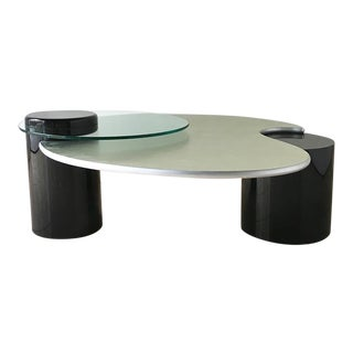 Post Modern Two Tiered Extendable Coffee Table 1980s For Sale