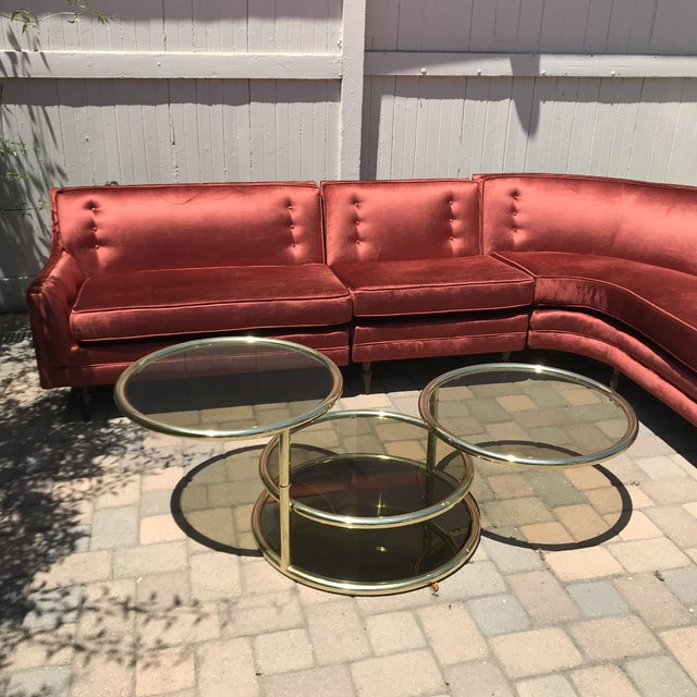 Mid-Century Probber Style Velvet Sectional Sofa For Sale - Image 10 of 12