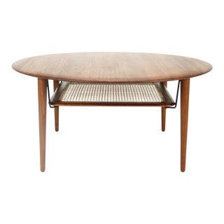 Peter Hvidt & Orla Mølgaard-Nielsen Round Solid Teak Coffee Table