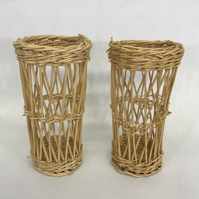 Wicker Basket Cachepots - a Pair For Sale - Image 4 of 4