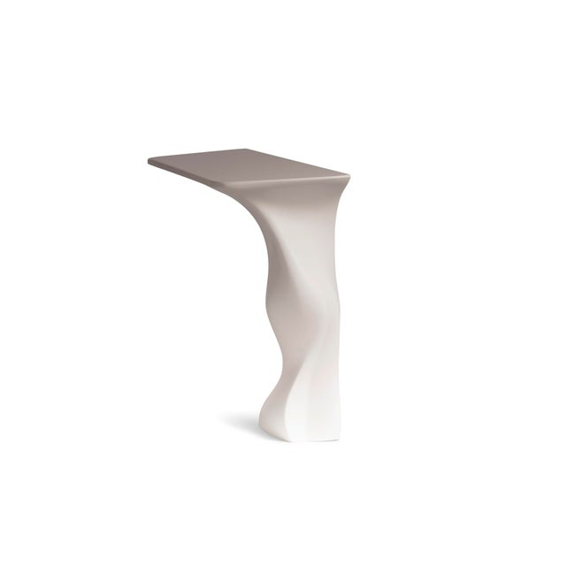 Amorph Frolic Console White Matte Wall Mounted For Sale In Los Angeles - Image 6 of 7