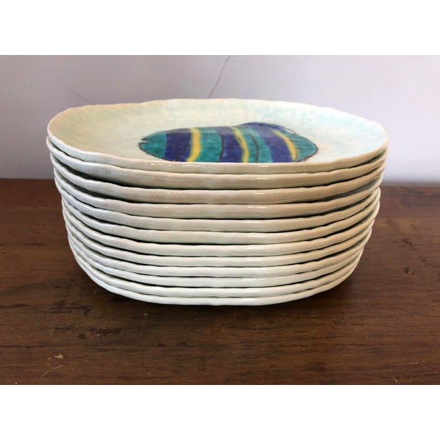 Ceramic Vintage Kotobuki San Francisco Japanese Fish Plates - Set of 12 For Sale - Image 7 of 7
