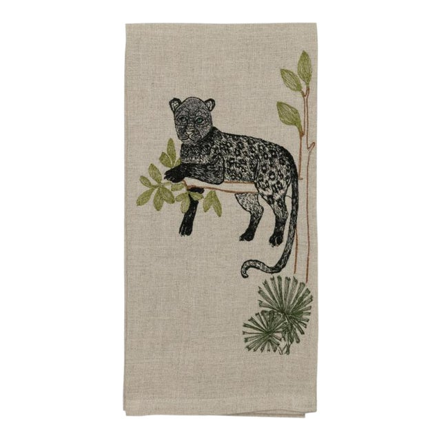 Panther Perch Tea Towel For Sale