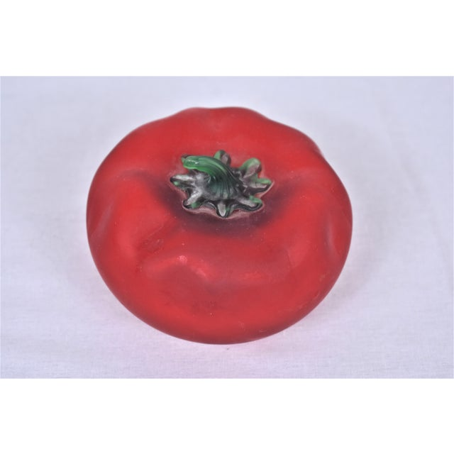 1980s 1980s Vintage Hand Blown Tomato For Sale - Image 5 of 7