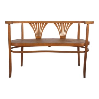 Thonet Bentwood Settee, Circa 1900 For Sale