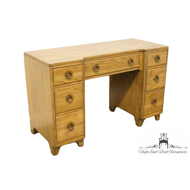 """Davis Cabinet Co. Solid Oak 48"""" Vanity W. Richwood Finish 337 30.5"""" High 48"""" Wide 20"""" Deep We specialize in High End Used..."""