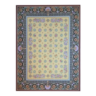 """Pasargad Aubusson Hand Woven Wool Rug - 9' 0"""" X 11'11"""""""