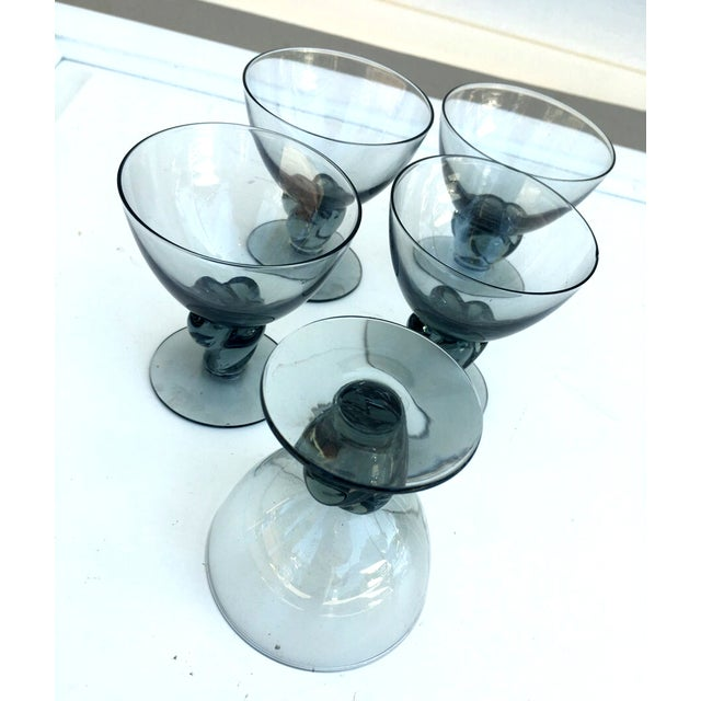 Italian Smokey Liquor Glasses - Set of 5 - Image 3 of 8