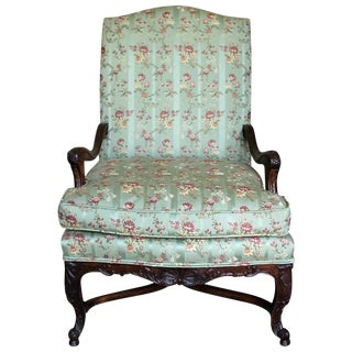 Late 19th Century Carved Walnut Armchair For Sale