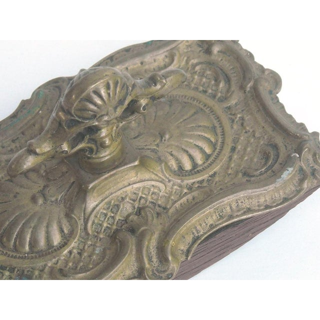 Antique French Ornate Brass Ink Blotter - Image 6 of 6