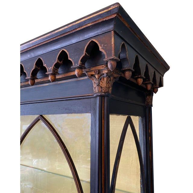 Early 19th Century Antique Gothic Style Cabinet For Sale - Image 5 of 6