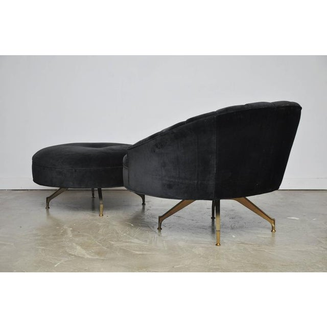 Sculptural Form Lounge Chair with Ottoman - Image 6 of 6