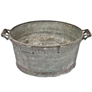 Vintage Galvanized Wash Tub