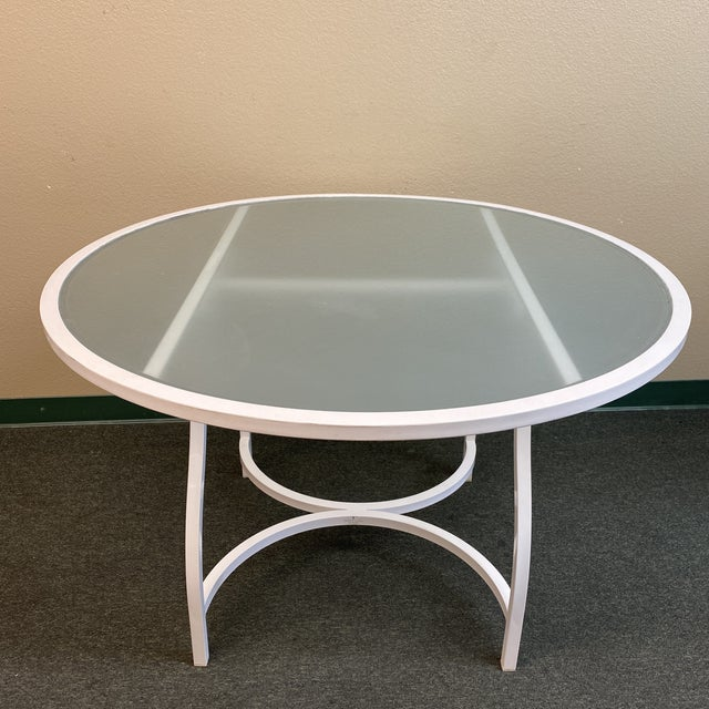 Janus Et Cie Frosted Glass Dining Table For Sale - Image 11 of 11