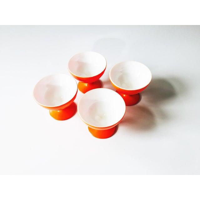 Vintage Orange Coupe Cocktail Glasses- Set of 4 - Image 4 of 5