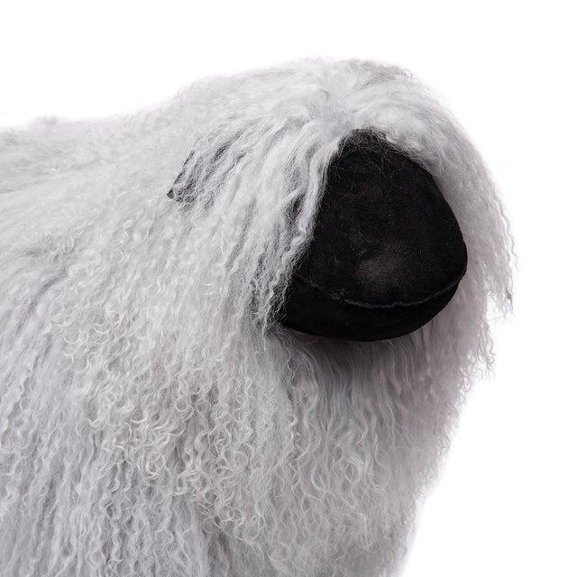 Tibetan Lamb Sheep in Grey Large For Sale - Image 4 of 5