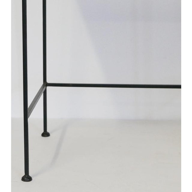 Contemporary Black Metal Tray Table For Sale - Image 3 of 5