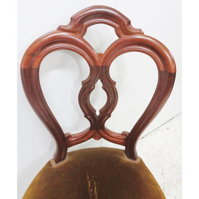 Victorian Mahogany Side Chair For Sale - Image 5 of 6