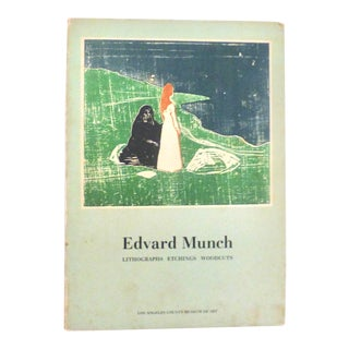 Edvard Munch, 1969 Illustrated Exhibition Book For Sale