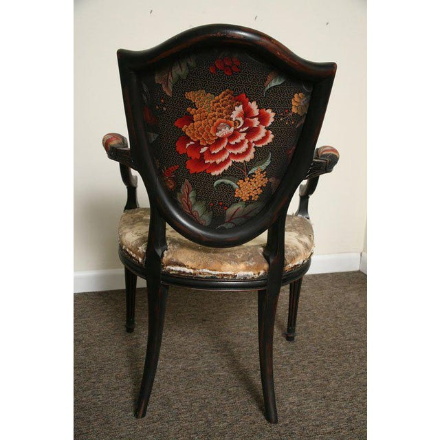 Pair of Neoclassical Elegant Wooden Armchairs For Sale - Image 10 of 10