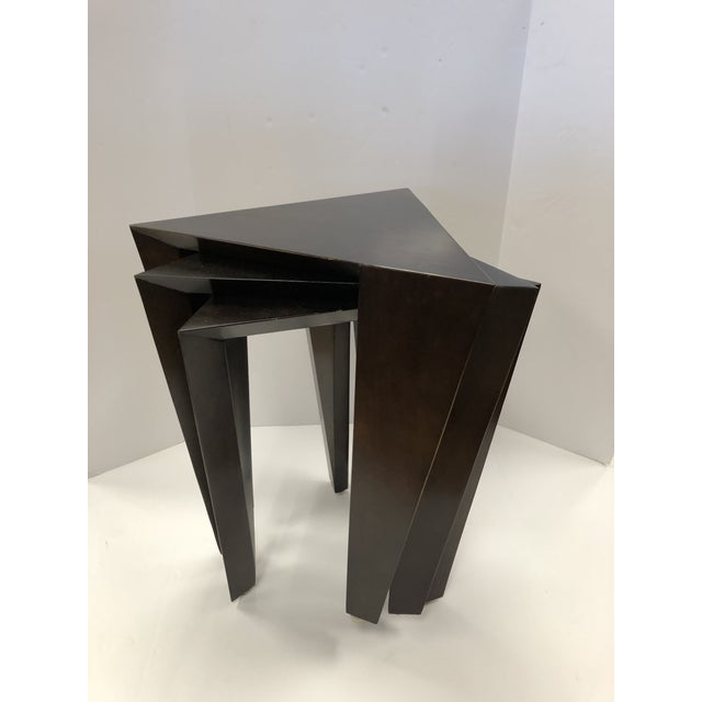 Set of 3 Modern Nesting Tables For Sale In New York - Image 6 of 6