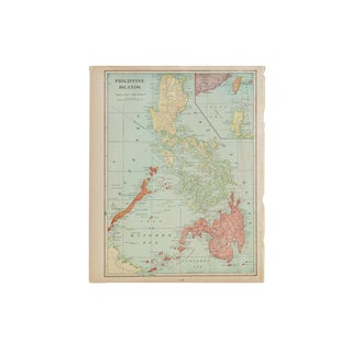 Cram's 1907 Map of Philippine For Sale