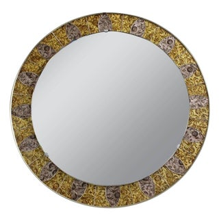 1970s Vintage French Mosaic Mirror For Sale