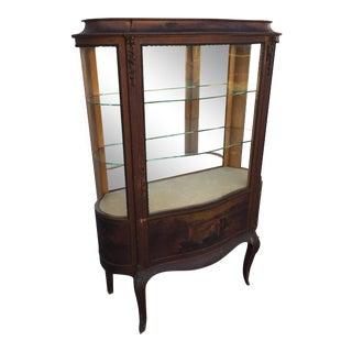 20th Century French Vernis Martin Curio Cabinet For Sale