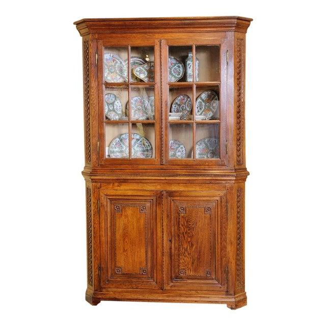 Antique Oak Corner cabinet For Sale - Image 10 of 10 - Luxury Antique Oak Corner Cabinet DECASO