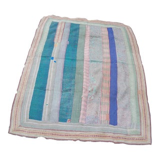 Antique Kantha Quilt From Bangladesh For Sale