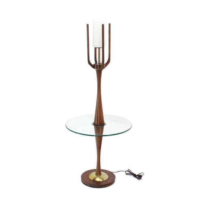 Vintage Mid-Century Sculptural Floor Lamp & Attached Table For Sale - Image 10 of 11