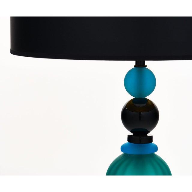 Italian Murano Glass Geometric Lamp For Sale - Image 3 of 11