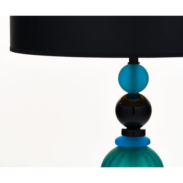 Italian Murano Glass Geometric Lamps For Sale - Image 3 of 12