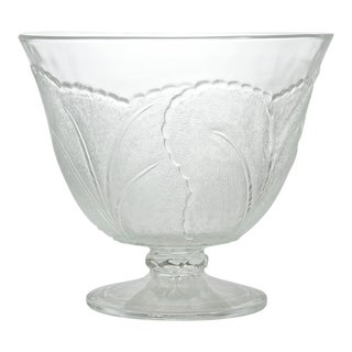 Vintage Leaf Pedestal Bowl For Sale