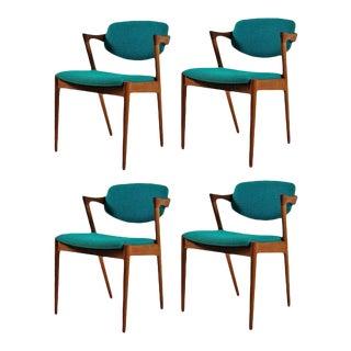 Mid-Century Modern Kai Kristiansen Danish Dining Chairs - Set of 4 For Sale