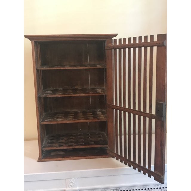 French 1930s French Walnut Egg Wall Cabinet For Sale - Image 3 of 12