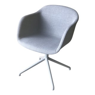 Muuto Gray Fabric Swivel Base Fiber Armchair For Sale