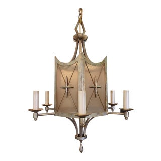1940s Hollywood Regency Chandelier For Sale