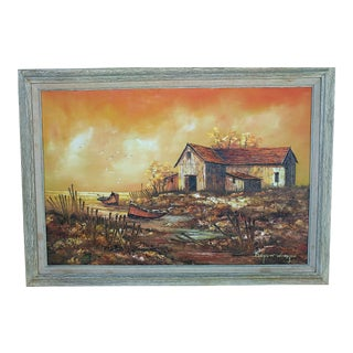 1970s Vintage Everett Woodson Oil Painting For Sale