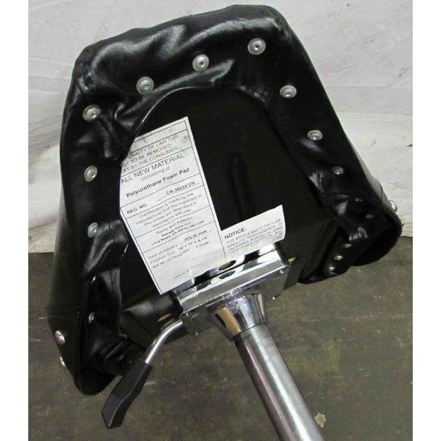 Animal Skin Studded Black Leather Stool For Sale - Image 7 of 10