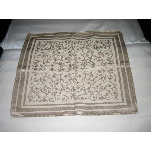 Vintage Floral Damask Napkins - Set of 4 - Image 2 of 5