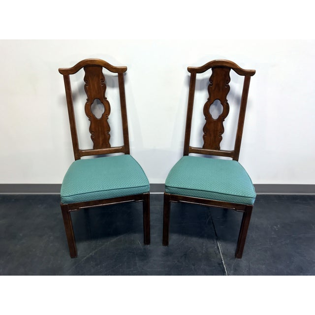 """Here is a pair of dining side chairs by Thomasville from their """"Mystique"""" line of furniture. Made in North Carolina, USA..."""