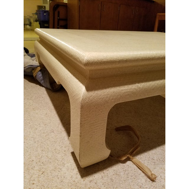Custom Egg Shell Ming Style Rectangle Coffee Table - Image 5 of 7