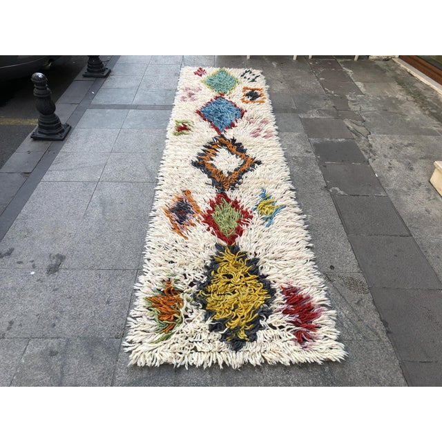 1970s Vintage Hand-Knotted Turkish Runner Rug - 2′9″ × 12′ For Sale - Image 11 of 11