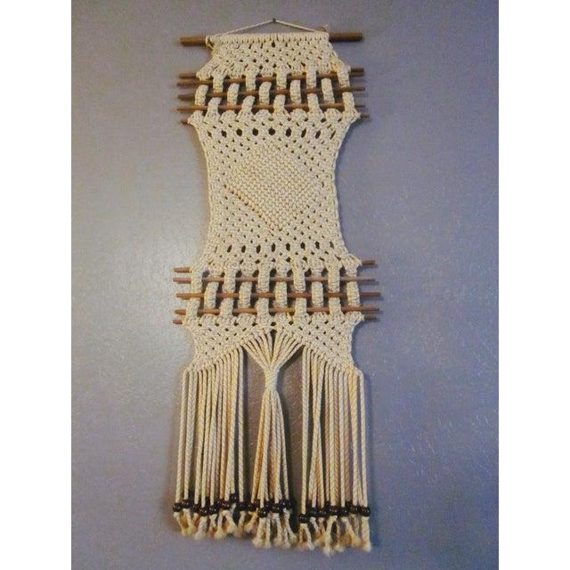 Vintage Jute Rope Macrame Boho Wall Hanging - Image 9 of 10
